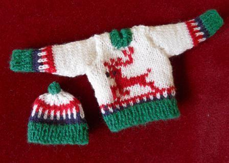 The Knitting Lady Christmas Patterns Jm67 Winter Reindeer